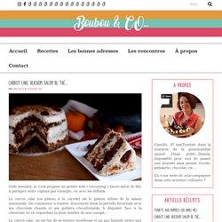 Carrot Cake version Salon de thé…