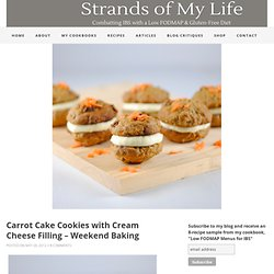 Carrot Cake Cookies with Cream Cheese Filling - Weekend Baking » Strands of My Life