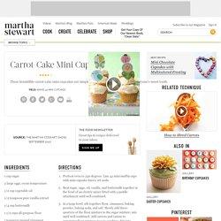 Carrot-Cake Mini Cupcakes Recipe & Video