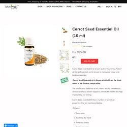 Carrot Seed Essential Oil (10 ml) - Meraki Essentials