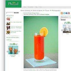 Carrot Orange Ginger Juice