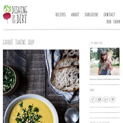 Carrot Tahini Soup