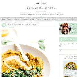 Carrot, Walnut & Red Lentil Hummus - Blissful Basil