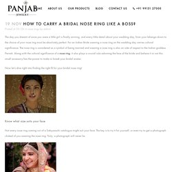 How to carry a bridal nose ring like a boss? - Panjab Jewelry