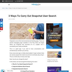 How to Carryout Snapchat User Search