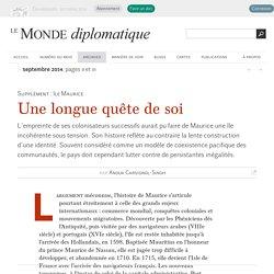 Une longue quête de soi, par Anouk Carsignol-Singh (Le Monde diplomatique, septembre 2014)