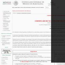 Carta de Antecedentes No Penales