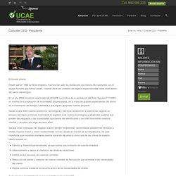 Carta del CEO / Presidente - UCAE