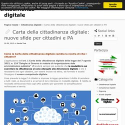 Carta della cittadinanza digitale
