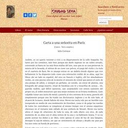 Carta a una señorita en París - Julio Cortázar