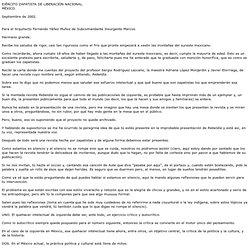 Carta del subcomandante Marcos