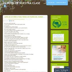CARTA DE UN NIÑO/A PARA TODOS LOS PADRES DEL MUNDO