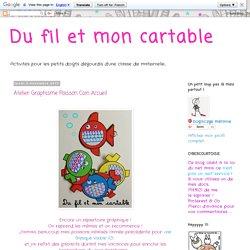 Du fil et mon cartable : Atelier Graphisme Poisson Coin Accueil