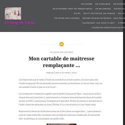 Mon cartable de maitresse remplaçante … – Le blog de Carla