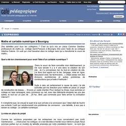 Maths et cartable numérique à Bouvigny