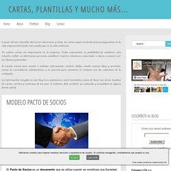 Cartas, plantillas y mucho más...: MODELO PACTO DE SOCIOS