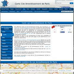 CARTE 13E ARRONDISSEMENT DE PARIS : cartes du 13e Arrondissement de Paris 75013