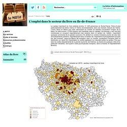 Carte - Atlas du livre - Concentration des métiers du livre en Ile-de-France