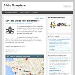 Carte des BiblioBox en bibliothèques