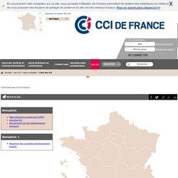 Carte des CCI : retrouver toutes les CCI de France