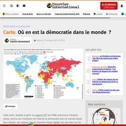 Carte. Où en est la démocratie dans le monde?