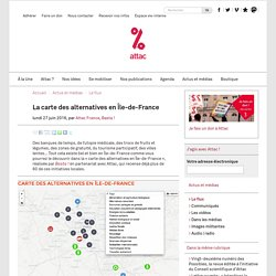 La carte des alternatives en Île-de-France