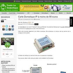 Carte Domotique IP à moins de 90 euros