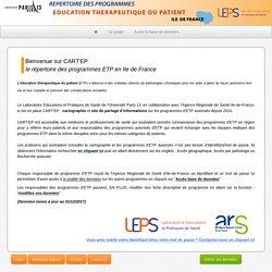 Carte'EP - Ile de France / Cartographie des programmes ETP en Île de France