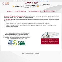 Carte'EP - Pays de la Loire / Cartographie des programmes ETP en Pays de la Loire