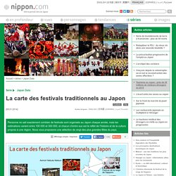La carte des festivals traditionnels au Japon