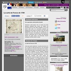 La carte de France de 1789