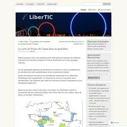 La carte de France de l'open data au quotidien