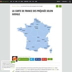 La carte de France des préjugés selon Google