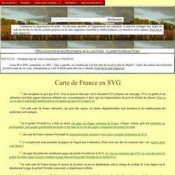 Carte de France en SVG