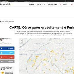 CARTE. Où se garer gratuitement à Paris ?