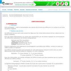 CARTE GEOLOGIQUE - accesmad