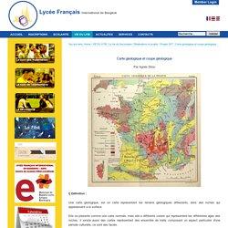 Carte géologique et coupe géologique