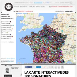 La carte interactive des 500 signatures