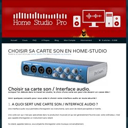 CARTE SON / INTERFACE AUDIO