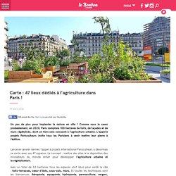 Carte : 47 lieux dédiés à l'agriculture dans Paris !