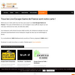 Carte Live Escape Game France