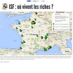 [Carte] Où vivent les riches en France ?