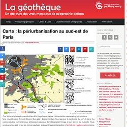 Carte : la périurbanisation au sud-est de Paris