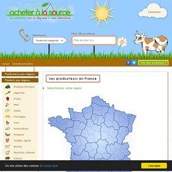 Carte des producteurs en France