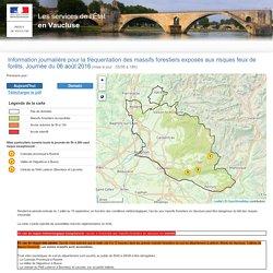 Carte du risque incendie en Vaucluse
