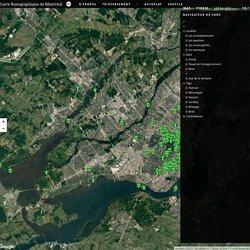 Carte sonographique de Montréal