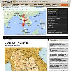 Carte Thailande : Plan touristique Thaïlande
