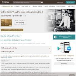 Carte Visa Premier - BforBank