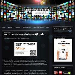 carte de visite gratuite en QRcode