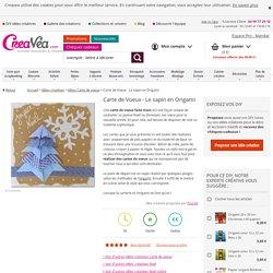 Carte de Voeux - Le sapin en Origami - Idées et conseils Faire Part - Carterie